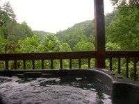 Log Cabin in Pigeon Forge with a Hot Tub.