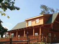 Three bedroom cabin rentals in Pigeon Forge and Gatlinburg Tennessee.